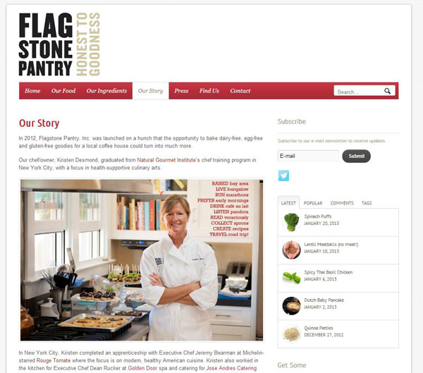 Flagstone Pantry, Inc. was launched on a hunch that the opportunity to bake dairy-free, egg-free and gluten-free goodies for a local coffee house could turn into much more.