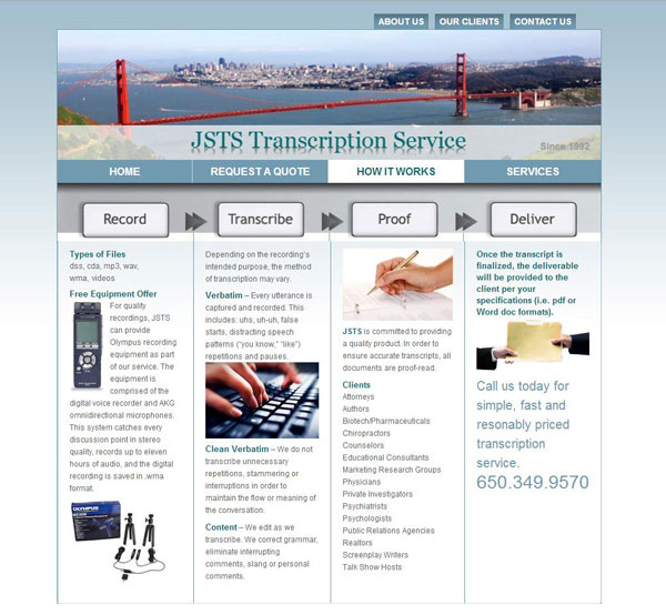 JSTS Transcription Services