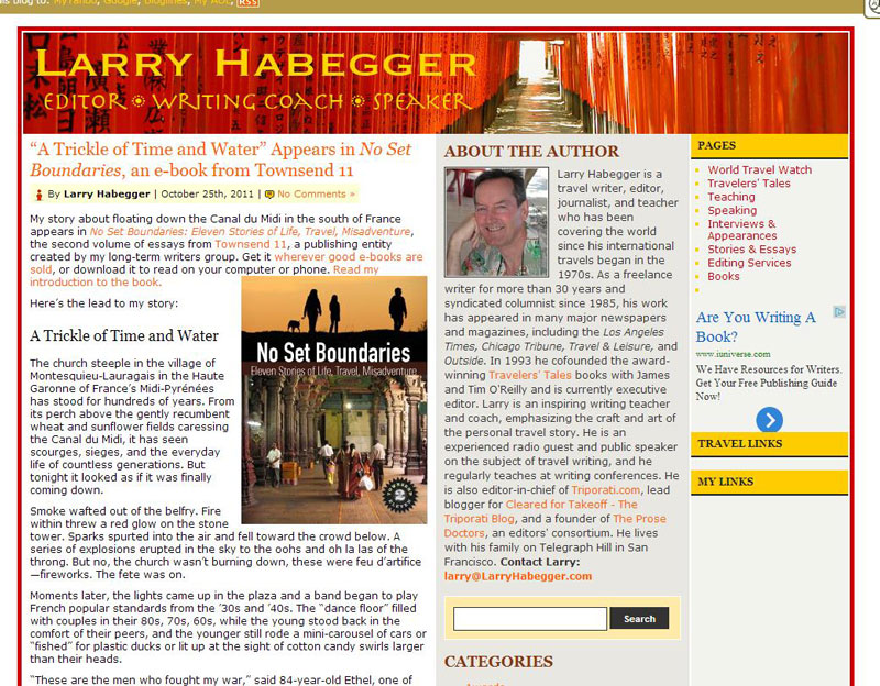 Larry Habegger Site Before
