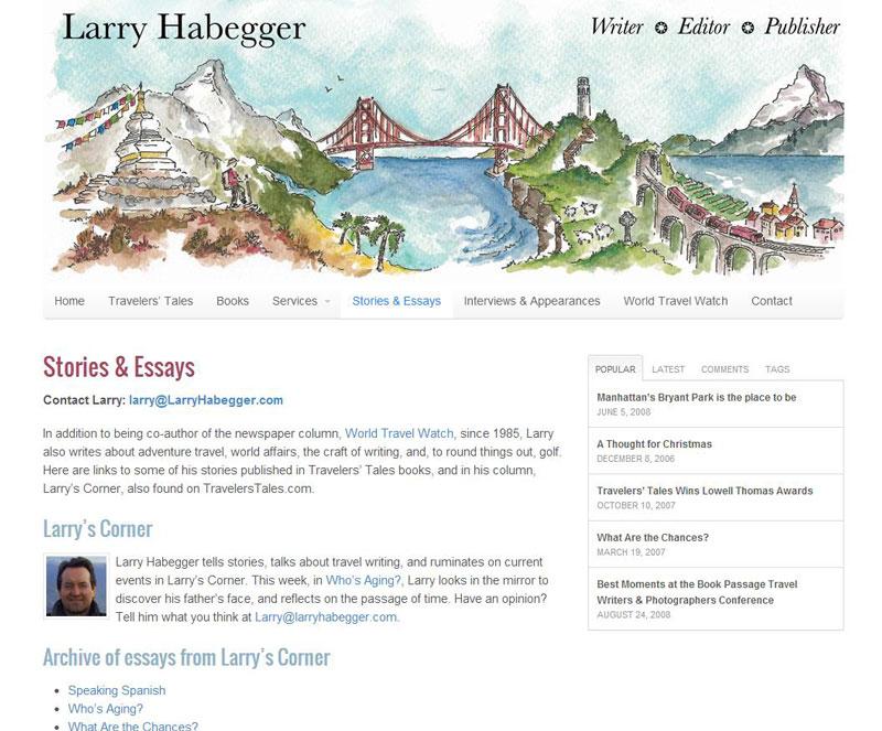Larry Habegger Site After