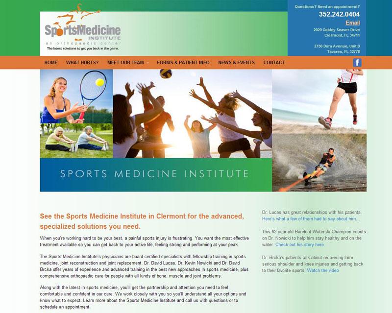 Sports Site in WordPress