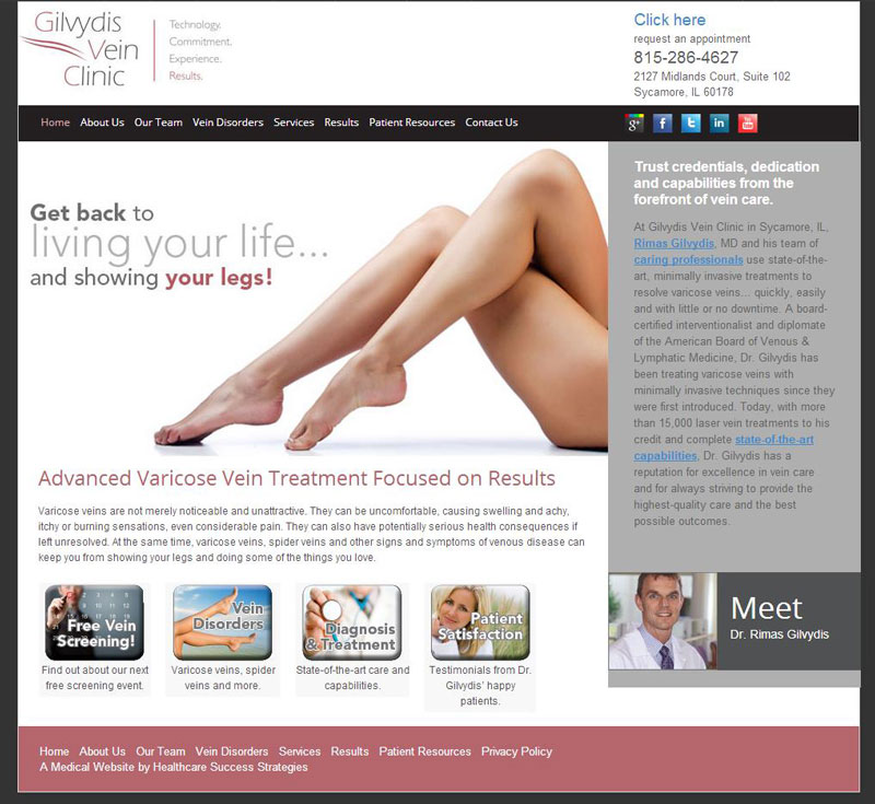 Vein Clinic Uses WordPress