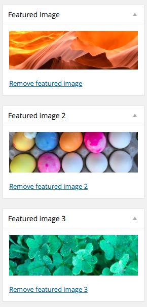Avada multiple featured images