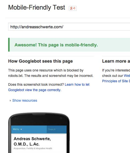 Congratulations that you passed the Google Mobile-Friendly Test!