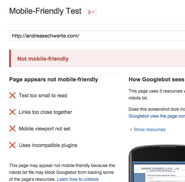Didn't pass the Google Mobile-Friendly Test? No problem, there's an easy fix.