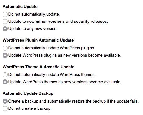 Update WordPress plugins, themes, and core as new versions become available.