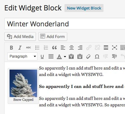 Creating or building a widget is as easy as creating a post.