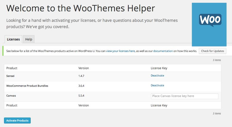 Bought some WOO Themes plugins, extensions, and themes? Now you can update them easily.
