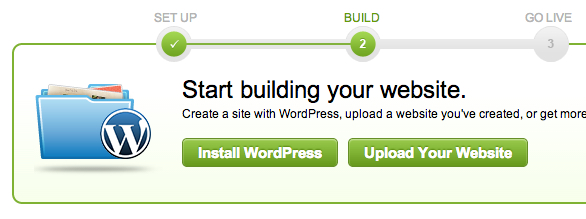 It's about as easy as point and click and you're up and running with WordPress.