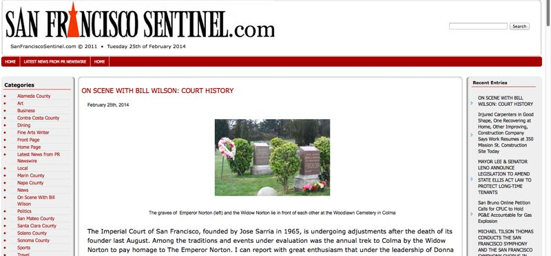 The old SF Sentinel site was functional, but not exactly exciting.